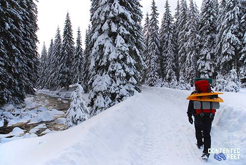 Hiking Through The Snow