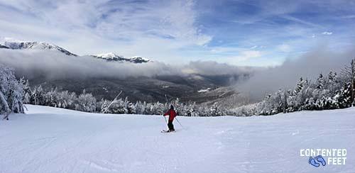Lone Skier On the Slopesne Skier On the Slopes