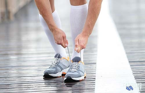 Runner wearing Compression Socks