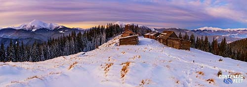 Winter Snow Mountain Panorama