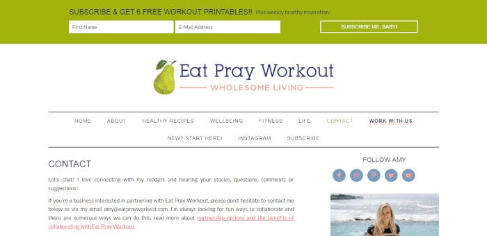 Eat Pray Workout