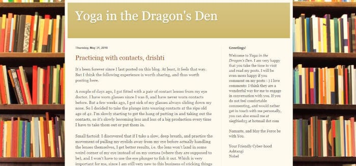 Yoga in the Dragons Den